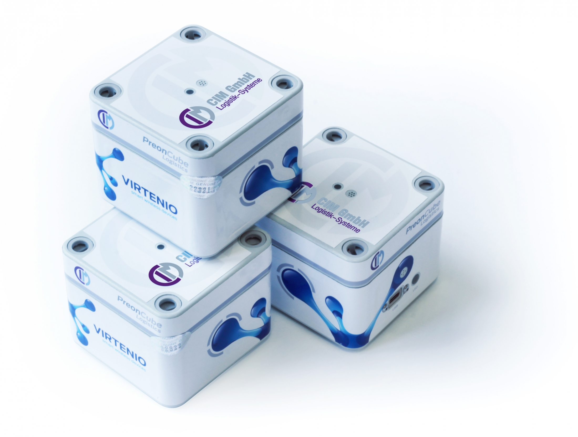The sensor cubes used by CIM can measure temperature, humidity, acceleration, and so on